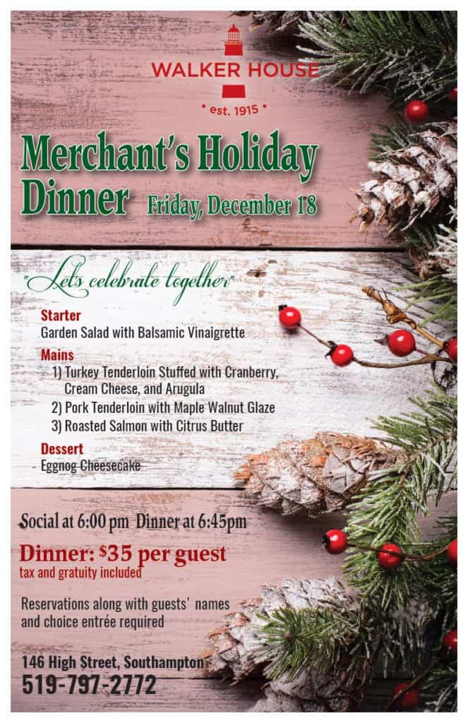 Merchants dinner poster