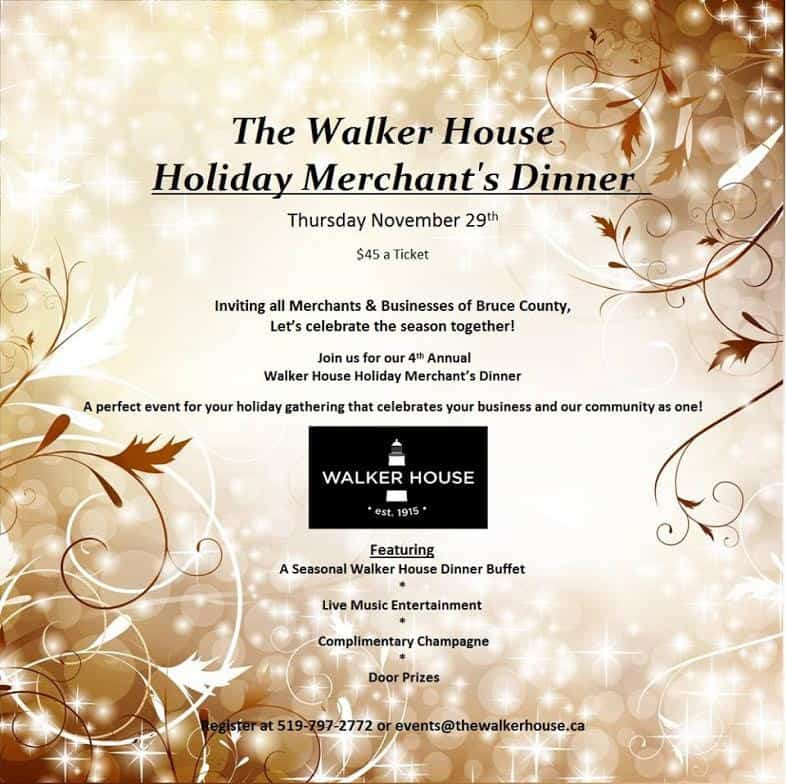 Walker House Merchant Dinner