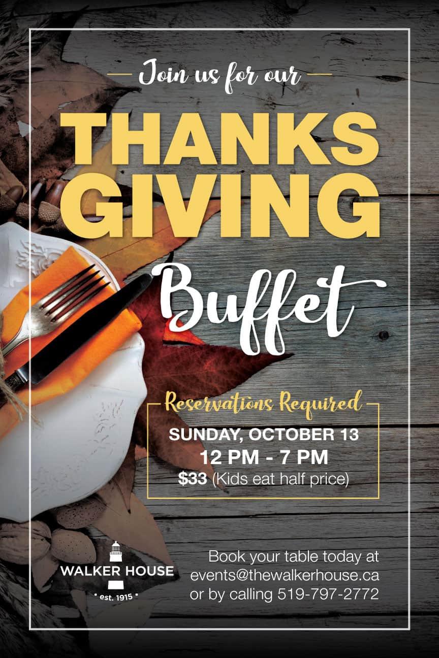 Thanksgiving Buffet @ Walker House